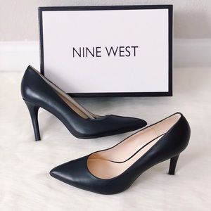 ✨New NINE WEST Filled 9X Leather Pointed Pumps